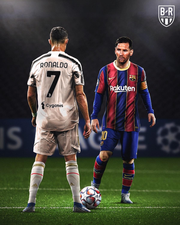 Cristiano Ronaldo và Lionel Messi sẽ đối đầu ở vòng bảng Champions League mùa này. (Ảnh: Bleacher Reports)