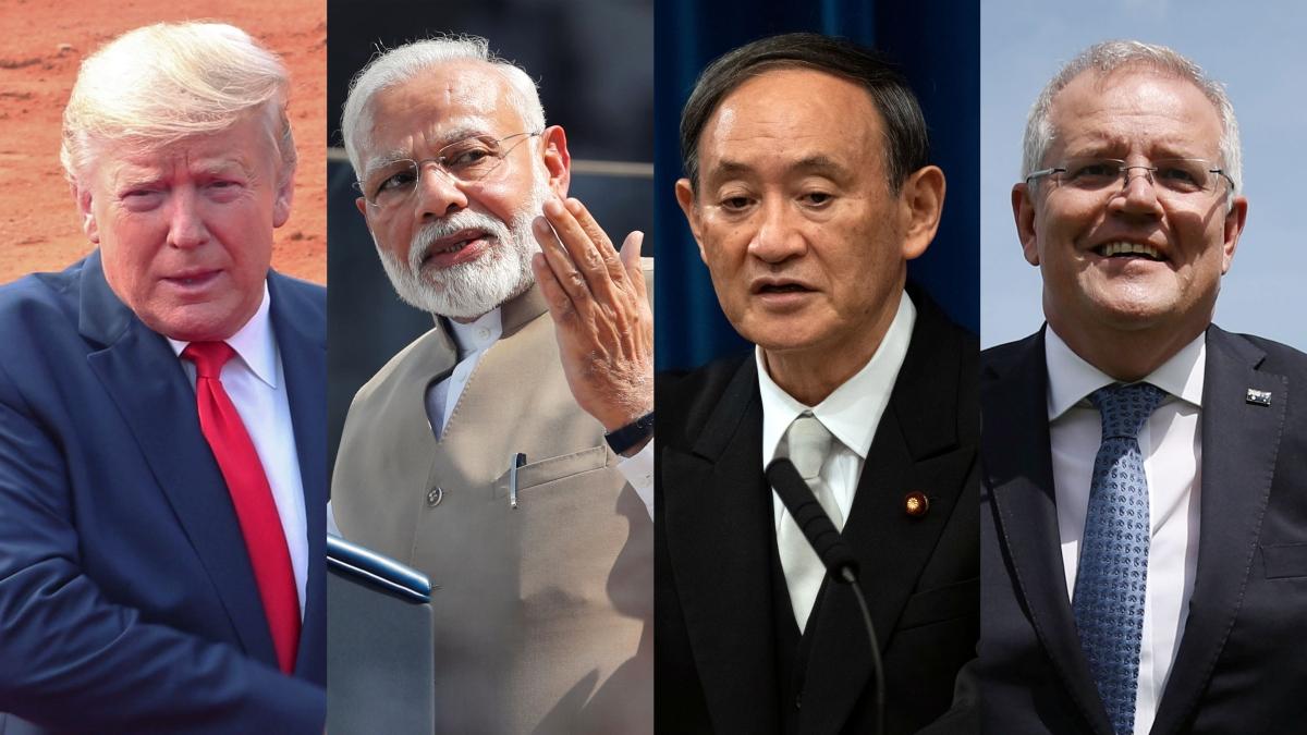 Các nhà lãnh đạo trong nhóm Bộ tứ kim cương gồm Mỹ, Ấn Độ, Nhật Bản và Australia. Ảnh: Reuters