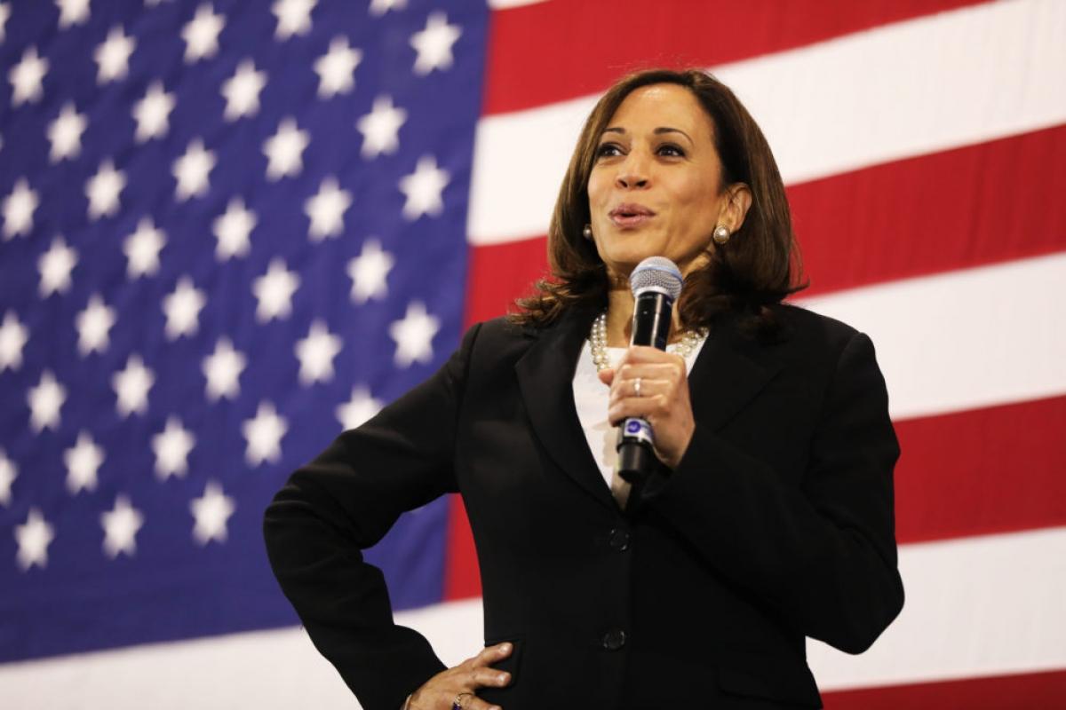 Ứng cử viên phó Tổng thống Mỹ Kamala Harris. Ảnh: Getty.