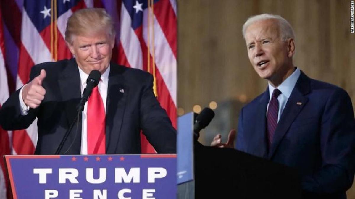 Tổng thống Mỹ Donald Trump và ứng viên Tổng thống đảng Dân chủ Joe Biden. Ảnh: CNN.