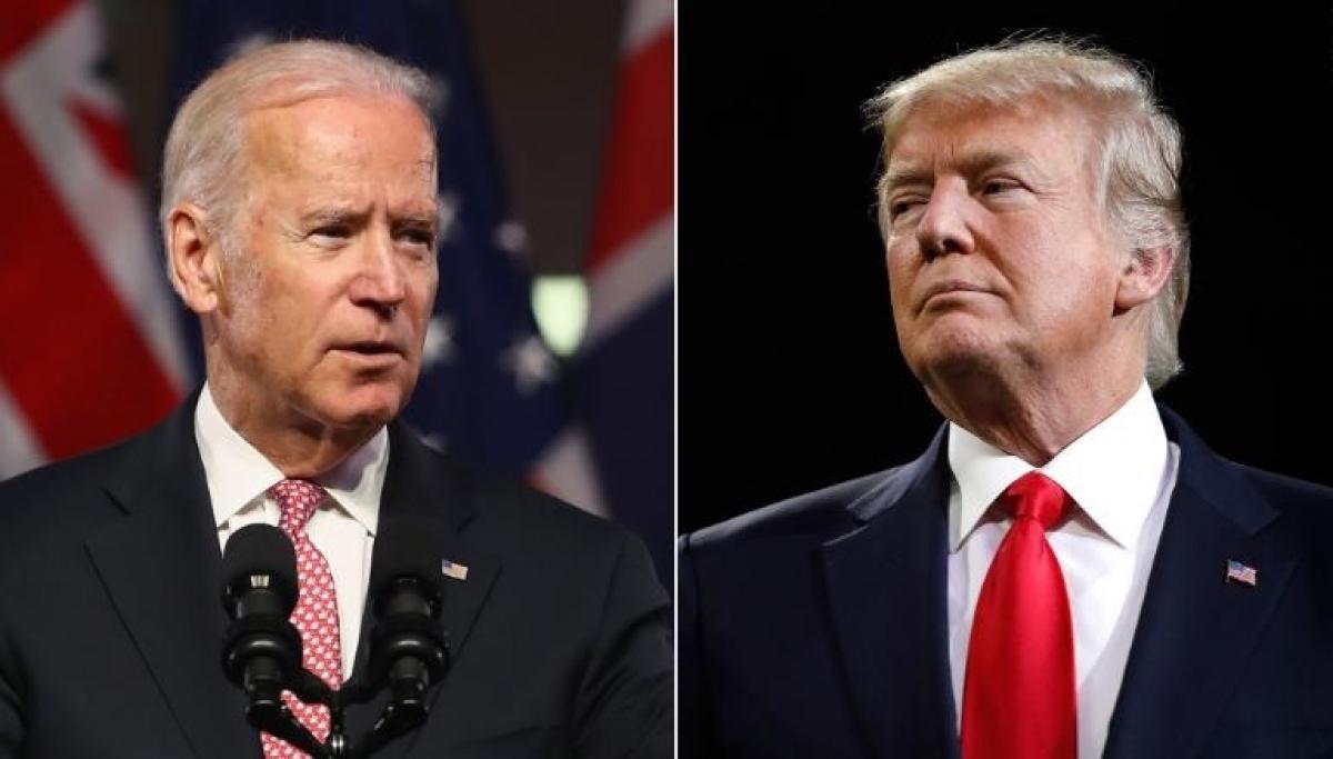 Hai ứng viên Tổng thống Mỹ Biden và Trump. Ảnh: CNN
