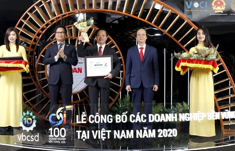 """Vedan Việt Nam duy trì danh hiệu """"Top 100 doanh nghiệp phát triển bền vững năm 2020"""""""