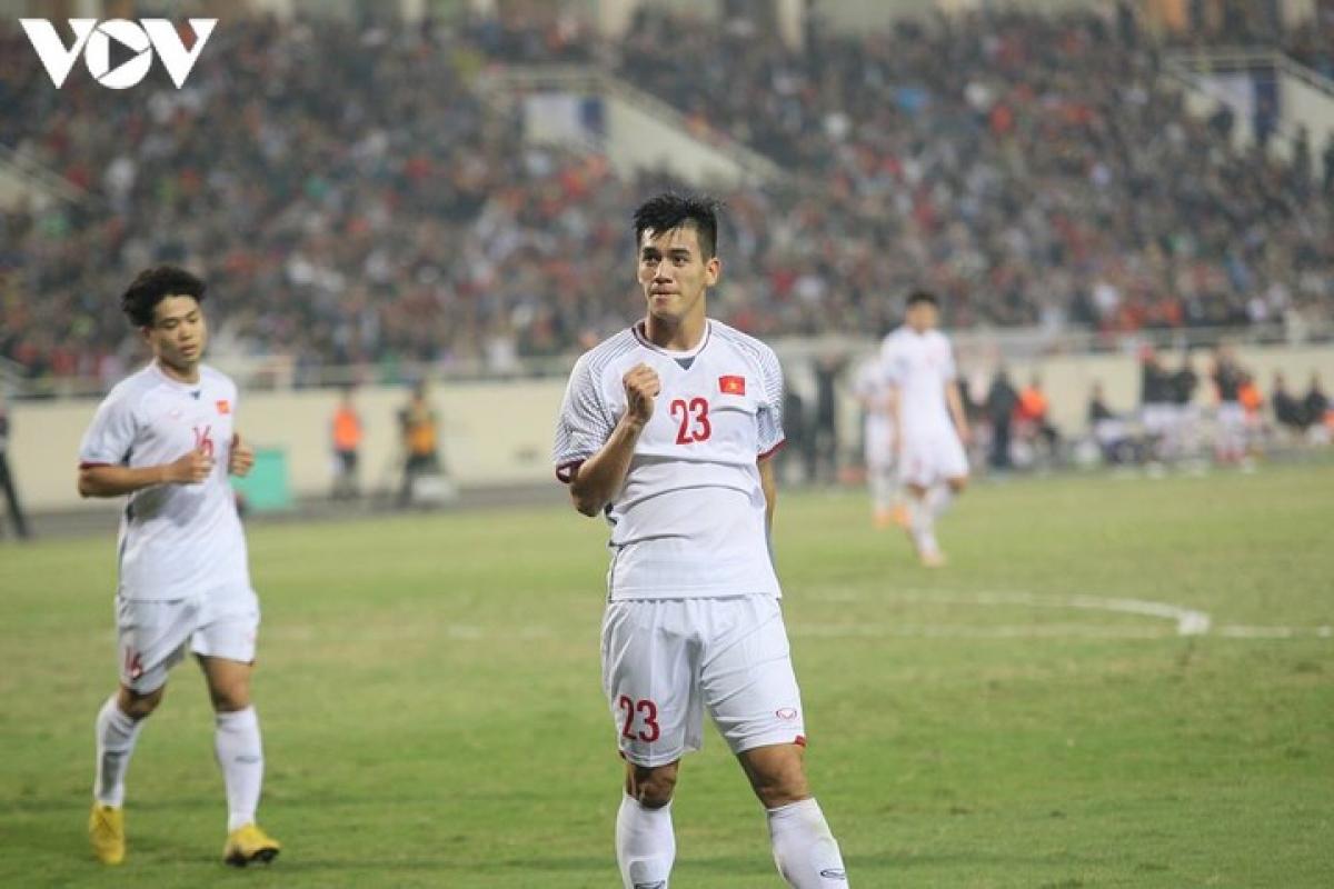 Tiến Linh là tác giả bàn thắng vào lưới CHDCND Triều Tiên. (Ảnh: Vy Vũ)